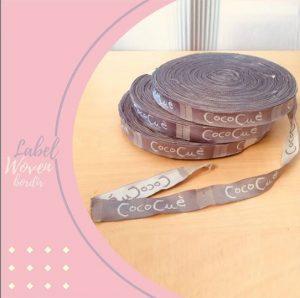label bordir woven